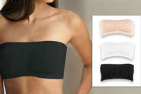 EDDProducts - Wrap up in full support and comfort with a pack of 3 Bandeau Bras for on these amazing seamless and strapless bras - Save 80%
