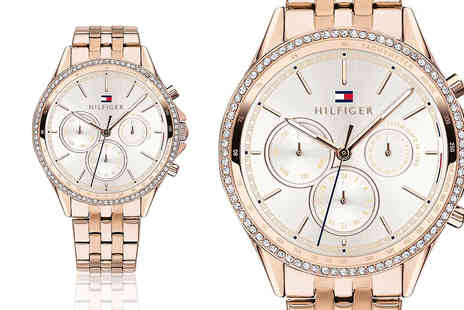 Best Watch Company - Tommy Hilfiger 1781978 ladies rose gold ari chronograph watch - Save 72%