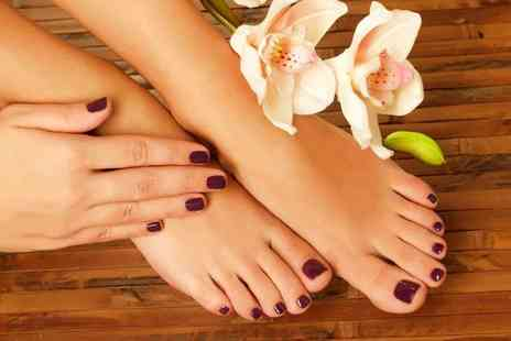 54a Hair And Beauty - Gellux manicure or pedicure treatment - Save 68%