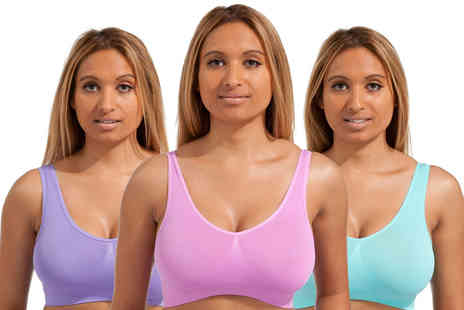 Marielle - Pack of three comfort bras - Save 0%