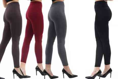 Groupon Goods Global GmbH - Up to Six Pairs of Thick Seamless Fleece Lined Leggings - Save 0%