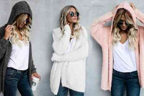 Groupon Goods Global GmbH - One or Two Womens Fluffy Hooded Cardigans - Save 0%