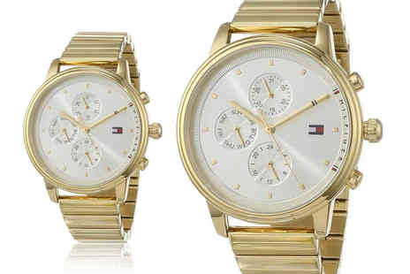 Best Watch Company - Tommy Hilfiger Ladies Blake Gold Chronograph Watch 1781905 - Save 72%