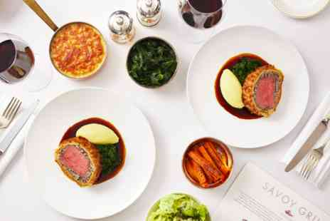 Gordon Ramsays Savoy Grill - Seven Course Taste of Savoy Menu for Two - Save 0%
