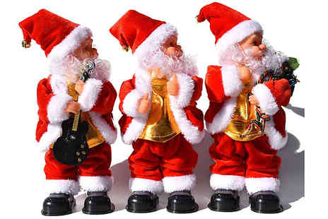 Domosecret - Dancing Musical Santa Claus Decoration Choose from 3 Designs - Save 67%