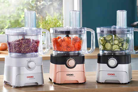CJ Offers - Cooks Professional 1000W food processor choose from three colours - Save 58%