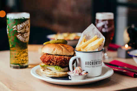 Innis & Gunn - Burger and fries, a salad or hot dog and schooner of beer or glass of wine each for two people - Save 54%