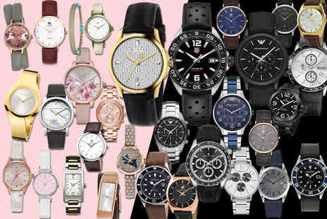 Brand Arena - Mystery watch deal for him or her Tag Heuer, Gucci, Armani, Hugo Boss, Calvin Klein, Kahuna, Beverly Hills and More - Save 0%