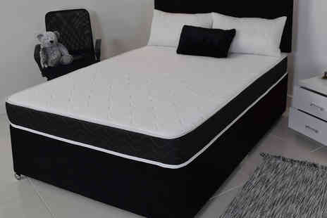 Desire Beds - Black quilted hypoallergenic memory sprung mattress - Save 89%