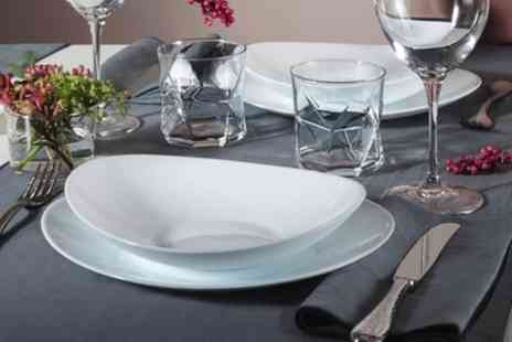 Groupon Goods Global GmbH - Bormioli Rocco 18 Piece Prometeo Opal Glass Dinner Set - Save 0%
