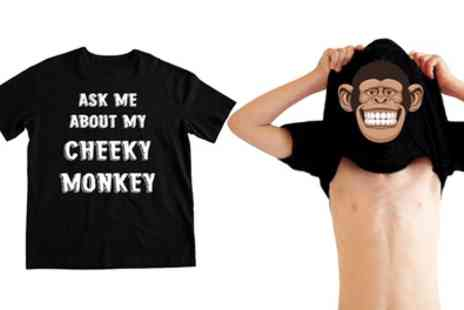 Groupon Goods Global GmbH - One or Two Ask Me Cheeky Monkey Tshirts - Save 73%