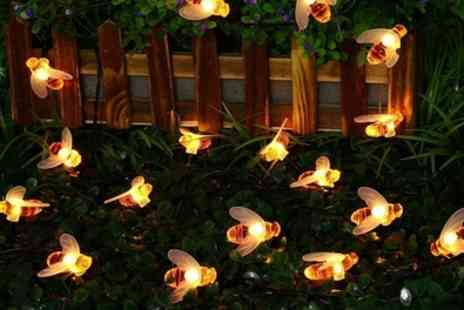 Groupon Goods Global GmbH - One, Two or Three Sets of Honey Bee Solar Lights - Save 76%