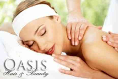 Oasis Hair - Back Massage and Mini Manicure - Save 60%