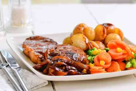 The Talbot - Sunday Roast with Wine or Becks for Up to Four - Save 44%