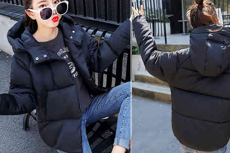 Aha Trading - Womens Hooded Winter Coat Choose from 2 Colours - Save 74%