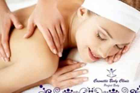 Cosmetic Body Clinic - One Hour Massage, 45 Minute Facial, and Body Scrub or Wrap - Save 84%