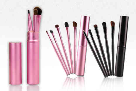 GetGorgeous - Five piece makeup brush set choose from two colours - Save 55%