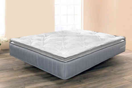 UKFurniture4u - Single luxury sprung pillowtop mattress choose your size - Save 63%