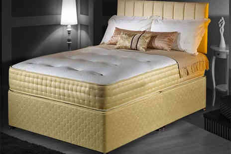 Desire Beds - Royal gold memory foam bio natural mattress choose from five sizes - Save 86%