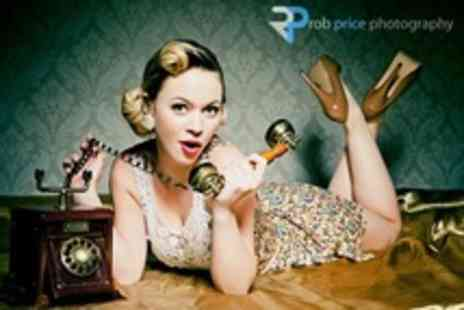 Rob Price Photography - Vintage Makeover Photo Shoot With Two Prints - Save 88%
