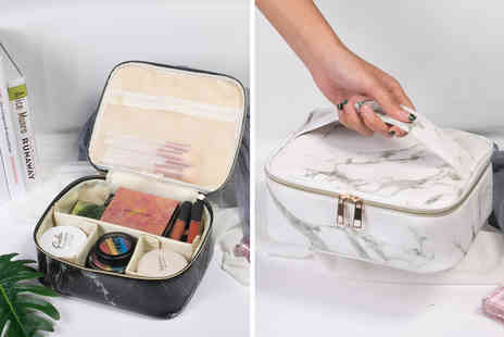 Yello Goods - Marble effect cosmetics storage bag - Save 73%