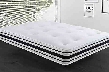 DUREST BEDS - 10 Inch 2000 Pocket Spring Mattress Available in 6 Sizes - Save 76%
