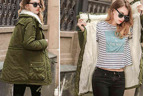 Aha Trading - Hooded Parka Jacket Choose from 2 Colours and 4 Sizes - Save 74%