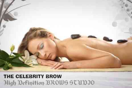 The Brow Studio - One Hour Hot Stone Massage - Save 60%