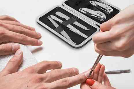 Avant Garde - Stainless steel mens manicure kit - Save 69%