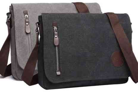 Groupon Goods Global GmbH - Mens Canvas Messenger Bag - Save 64%