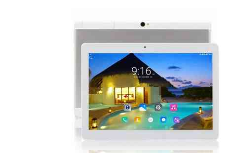 Wishwhooshoffers - 10.1 inch Android 7 quad core tablet choose from two models - Save 80%