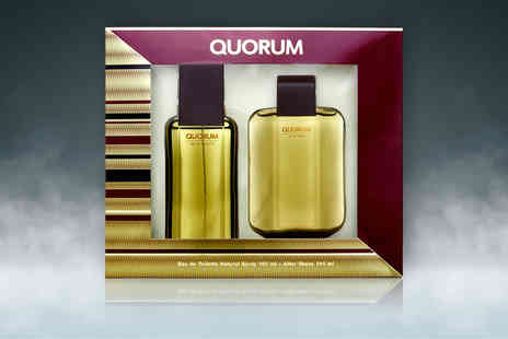 Wowcher Direct - Puig Quorum 100ml eau de toilette spray and 100ml aftershave giftset - Save 46%