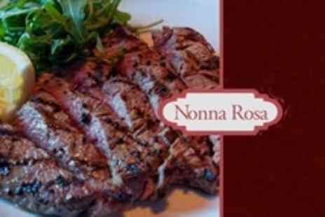 Nonna Rosa - Two Course Italian Meal For Two With Choice of Fillet Steak - Save 53%