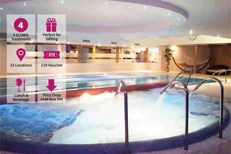 Bannatyne Spa - Spa day for two people with four treatments, lunch, a drink and a £10 voucher each - Save 60%