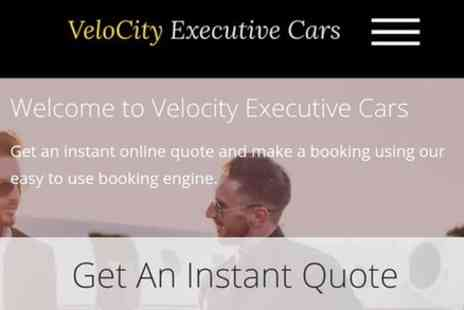 Velocity Executive Cars - Taxi Service, Airport Transfers, Long distance travelling, Book a whole day tour - Save 0%