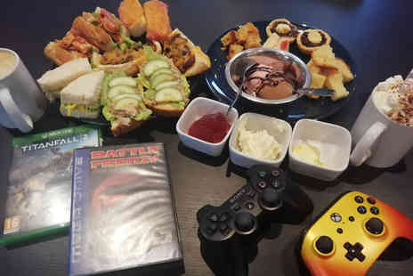 Extra Life Gaming Lounge - Gaming afternoon tea for two - Save 52%