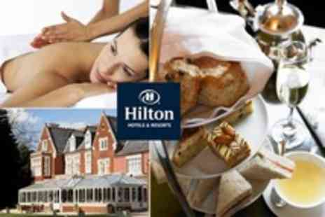 Hilton St Annes Manor - Spa Package with Massage and Facial Plus Afternoon Tea For One - Save 52%
