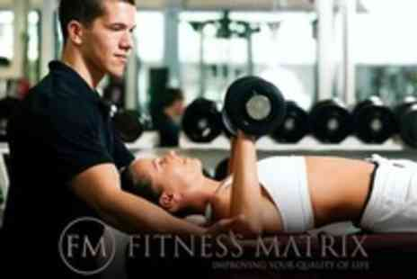 Fitness Matrix - Three Personal Training Sessions Plus Health Assessment - Save 89%