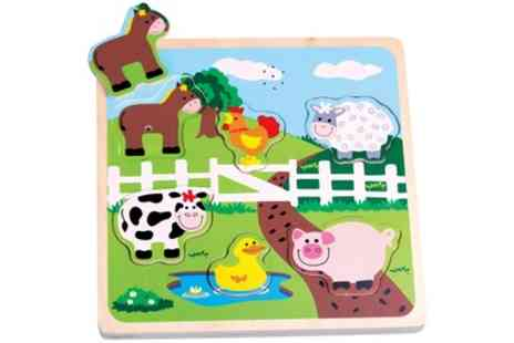 Groupon Goods Global GmbH - Lelin Farm Sound Puzzle - Save 0%