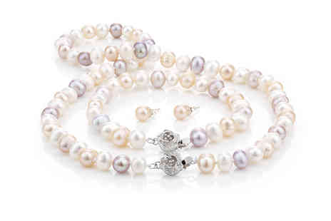 Pearl Shed - Freshwater semi baroque pearl set - Save 90%