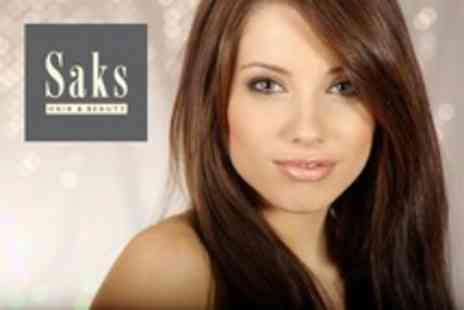 Saks Hair and Beauty - Restyle Cut and Conditioning or Half Head Highlights With Cut and Conditioning - Save 69%