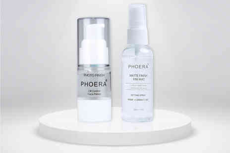 Forever Cosmetics - Phoera setting spray and photo finish primer bundle - Save 67%