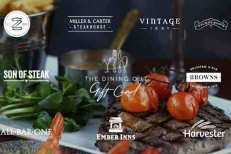 The Dining Out Gift Card - Steak Dining Experience - Save 0%