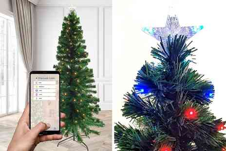 Dream Price Direct - 6ft Bluetooth fibre optic Christmas tree with 240 fibre optic tips and 240 Leds - Save 14%