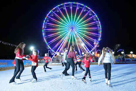 M&Ds Theme Park - Ice skating session for two people and access to two rides - Save 53%