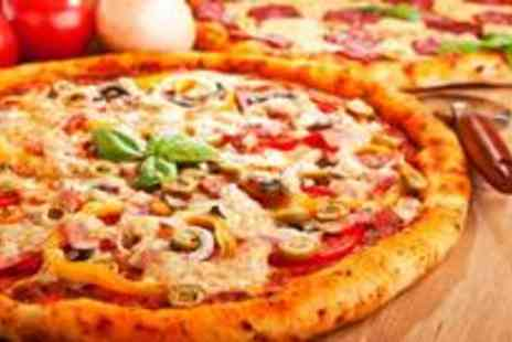 The Italian Kitchen - Pizza or pasta and a side salad for four on mouth-watering Mediterranean flavours and a side salad each - Save 63%