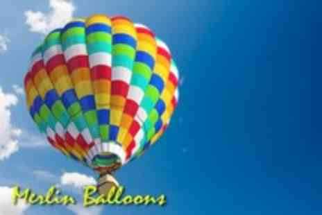 Merlin Balloons - Four hour hot air balloon experience over Kent 1 hour flight & bubbly - Save 55%