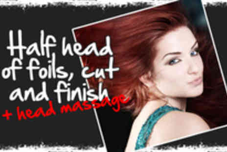 Bliss Beauty - Half head of foils, cut and finish - Save 75%