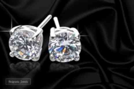 Belgravia Jewels - Pair of 6mm Swarovski elements solitaire stud earrings - Save 88%