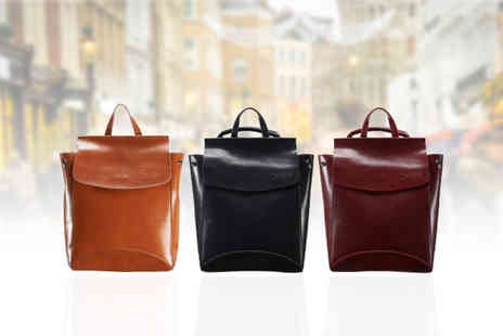 Evaniy - Chic leather backpack Choose from three colours - Save 61%